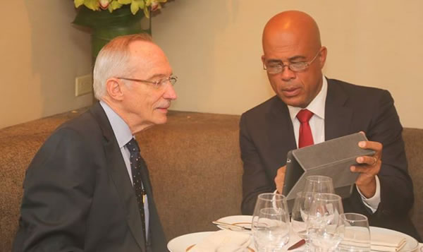 UN, Ambassador Edmond Mulet and President Michel Martelly
