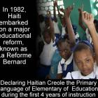 La Reforme Bernard and Haiti Education System