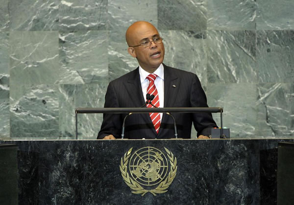 Michel Joseph Martelly Speech at the United Nations in 2014