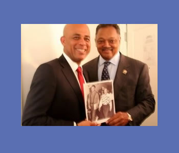 Jesse Jackson and Michel Martelly