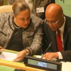 Michel Martelly and Sophia Martelly at the United Nations