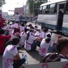 Protest against Duvalier Regime on the day of Jean Claude Duvalier's Funeral