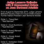 Judge Lamarre Belizaire  Unexecuted Orders  on Jean Bertrand Aristide