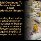 Haiti Receiving Food Aid instead