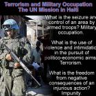 Terrorism and Military Occupation in Haiti by United Nations, MINUSTAH