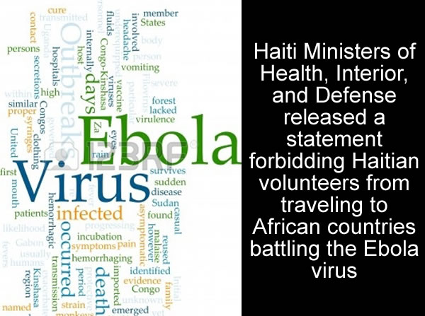Haiti Bans Citizens from Ebola UN Volunteer Mission in Africa
