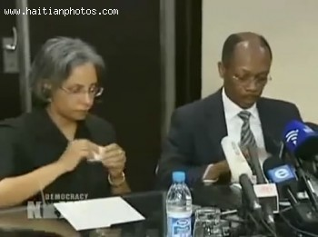 Jean-Bertrand Aristide And Wife Mildred Aristied Discussing Plan To Return To Haiti