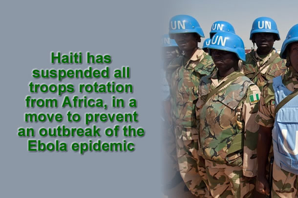 UN troops rotation from Africa suspended to prevent Ebola in Haiti