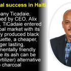 Alix Villedrouin, TiCadaie success in charcoal market