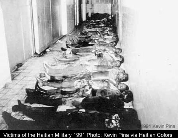 Victims of the Haitian Military Coup in 1991 against Jean-Bertrand Aristide