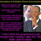 Phone Calls of Jean Bertrand Aristide being intercepted