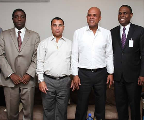 Michel Martelly meets with  Me Jean Henry Céant