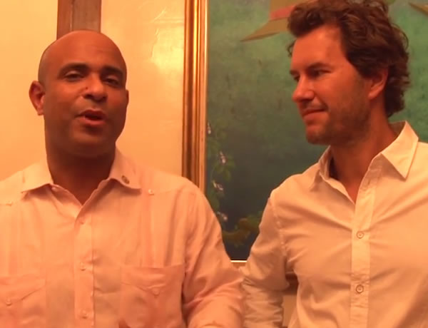 Laurent Lamothe meeting Blake Mycoskie, TOMS Shoes