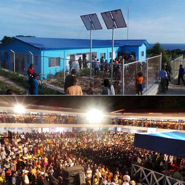 Inauguration Lycée Jean-Louis Dulciné in Gris-Gris, Haiti