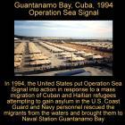 Guantanamo Bay, Cuba, 1994, Operation Sea Signal