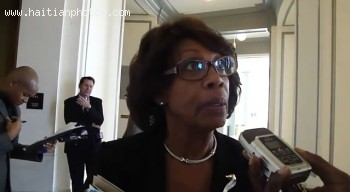 Here Is A Picture Of California Congress Woman Maxine On Duvalier Return