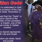 Day of the Dead in Haiti or Gede
