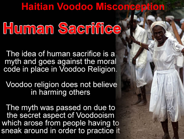 Haitian Voodoo Misconception, Human Sacrifice