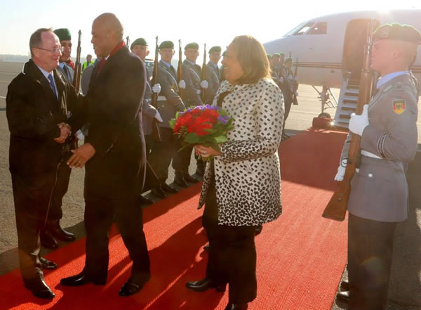 President Michel Martelly and Sophia Martelly in Germany