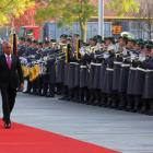 Michel Martelly hosted by German Chancellor Dr. Angela Merkel