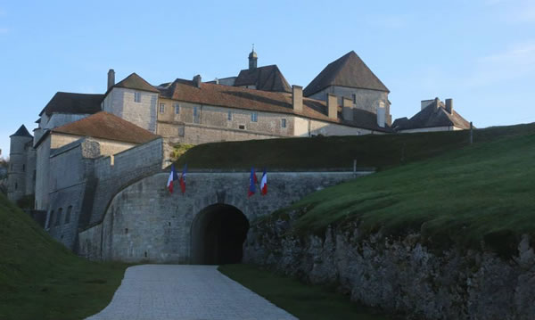 Fort de Joux in France in Honor of Toussaint Louverture with Haitian Flag