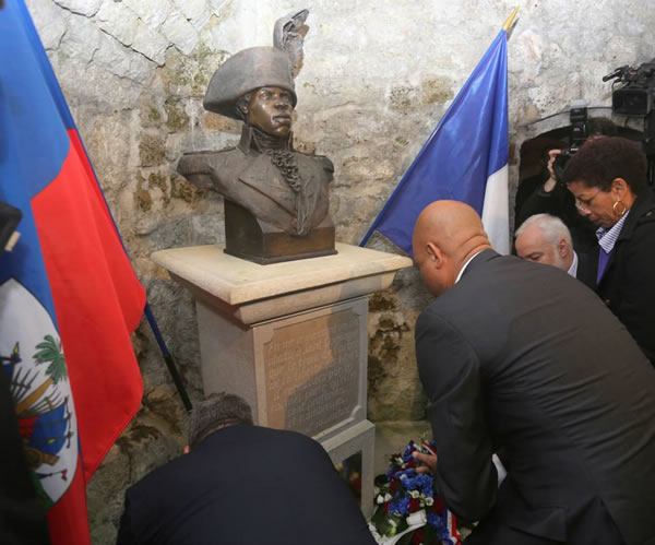 Visit by Michel Martelly in Fort de Joux in France in Honor of Toussaint Louverture