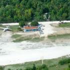 Construction work of brand-new airport in Jeremie, Haiti