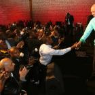 Michel Martelly with The Haitian Community in France
