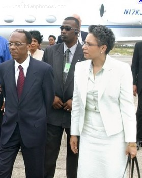 Jean-Bertrand Aristide And Mildred Aristide