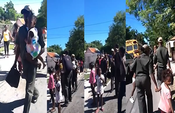 Haitian kids being taken into immigration custody in the Bahamas