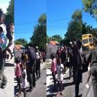 Haitian kids being taken into