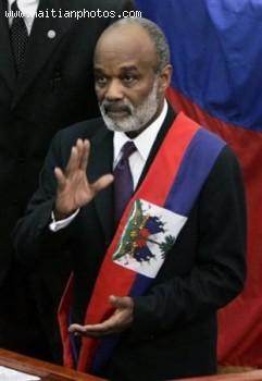 Haitian President Rene Preval