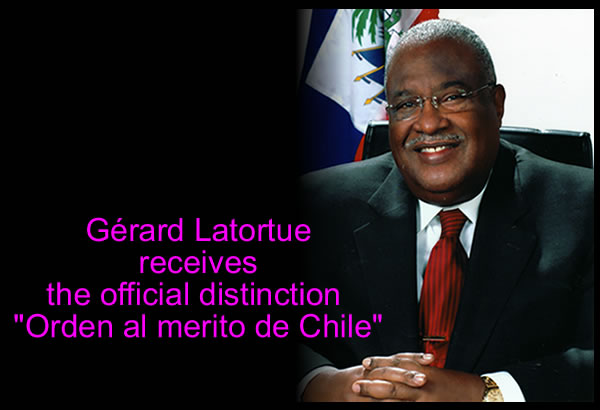 Gérard Latortue received the official distinction