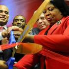 Laurent Lamothe, Jean Monestime and Daphne Campbell at Caribbean Martketplace