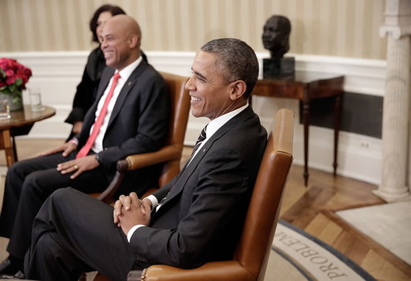 Michel Martelly and Barack Obama in Washington DC