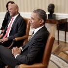 Michel Martelly and Barack Obama in Washington DC