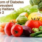 The Form of Diabetes most prevalent  among Haitians is Type 2