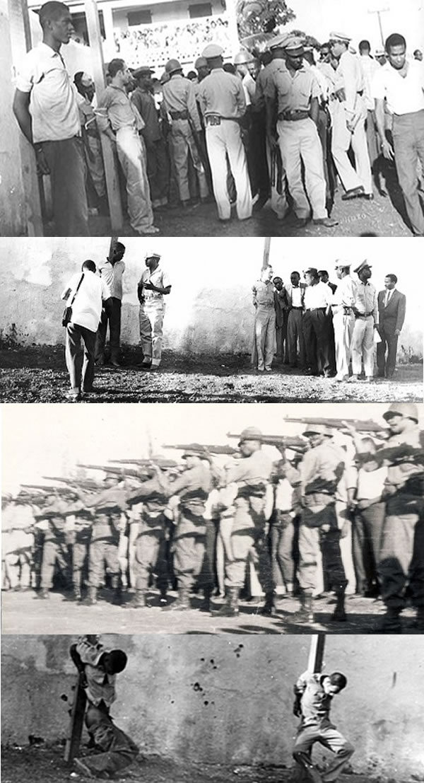 Rebel Marcel Numa and Louis Drouin executed by Francois Duvalier Duvalier