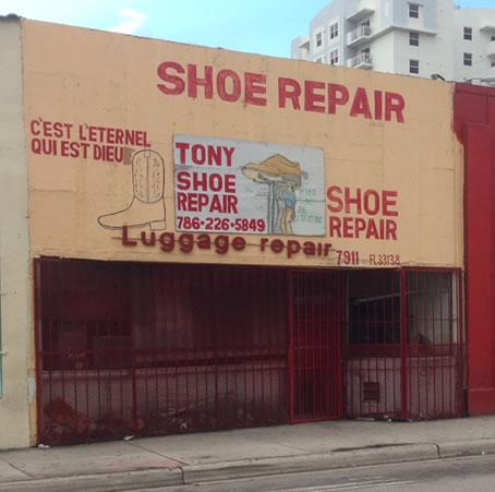 Tony Shoe repair in Little Haiti