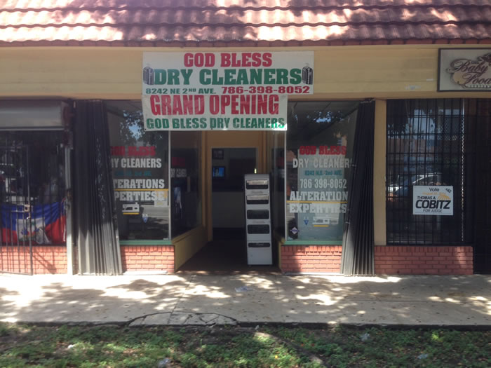 God Bless Dry Cleaner in Little Haiti