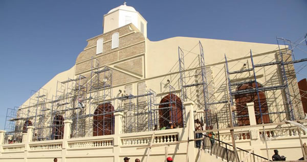 Inauguration of the transitional Cathedral of Port-au-Prince