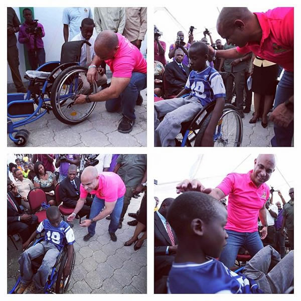 Haitian Prime Minister Laurent Lamothe commitment to disabled people