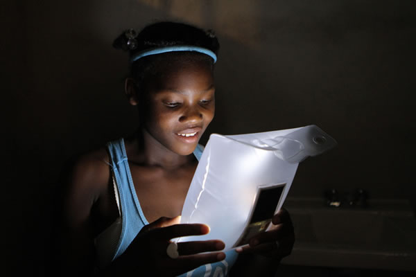 LuminAID solar light designed in post 2010 earthquake in Haiti