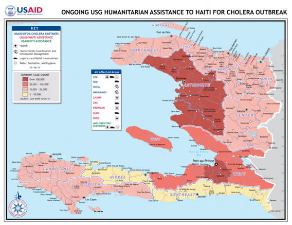 Cholera epidemic killed 132 people and infected over 15,000 in Haiti in 2014