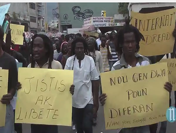 The Dreads in Haiti united in protest against Police behavior