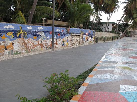 The Creation of mosaic art in Jacmel, Haiti