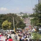 Huge Protest against Jean-Bertrand Aristide, August 2001