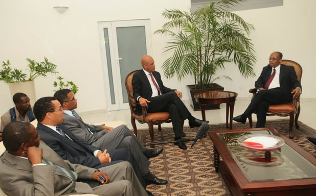 Historic meeting Michel Martelly and Jean-Bertrand Aristide