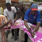 Haiti protesters destroying Michel Martelly Picture