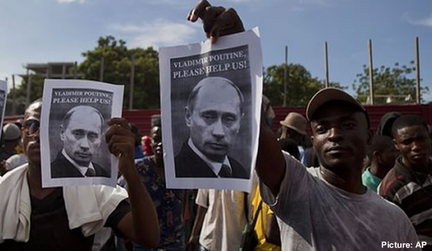 Haitian protesters called on Russian President Vladimir Putin for help
